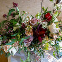 Free-form, wild flower bridal bouquet